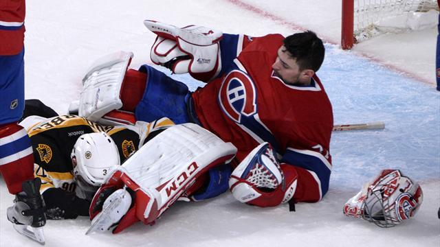 Ice Hockey - Bruins stike in overtime to beat Canadiens, tie series