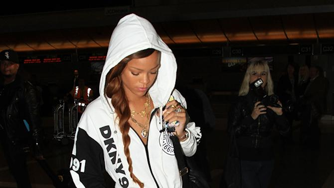 Rihanna is seen at LAX Airport in Los Angeles