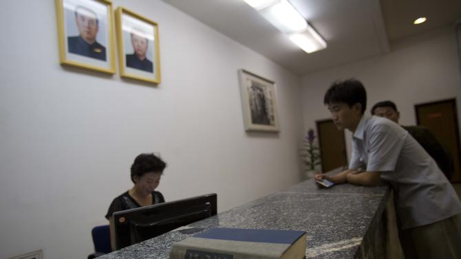 "In this Aug. 8, 2012 photo, a library copy of the American classic novel ""Gone With The Wind"" sits on a table inside the Grand People's Study House in Pyongyang, North Korea. To come across Margaret Mitchell's 1936 Civil War epic in North Korea is to stumble over the unlikeliest of American cultural touchstones in the unlikeliest of places. In ""Gone With the Wind,"" North Koreans found echoes of their own history and insights into the United States: bloody civil wars fought nearly a century apart; two cities - Atlanta and Pyongyang - reduced to rubble after attacks by U.S. forces; two cultures that still celebrate the way they stood up to the Yankees. If North Koreans have yet to find fortune, they haven't given up. (AP Photo/David Guttenfelder)"
