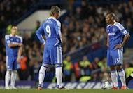 Chelsea's Florent Malouda (R) reacts after a goal is scored by Newcastle Papiss Cisse during their last English Premier League match, at Stamford Bridge in London, on May 2. Chelsea play Liverpool next, at Anfield, on Tuesday