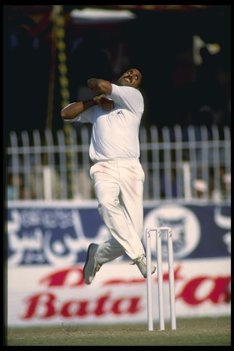Kapil Dev in bowling action