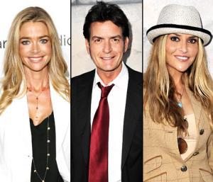 Denise Richards Helps Charlie Sheen Host Birthday Party for Brooke Mueller