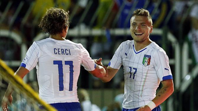 World Cup - Immobile scores hat-trick in Italy warm-up win