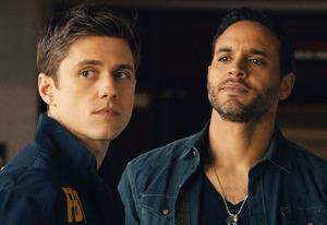 Aaron Tveit, Daniel Sunjata | Photo Credits: USA Network