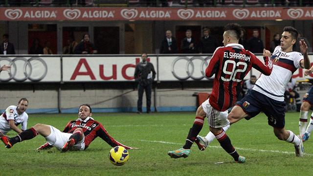 Italian Serie A - El Shaarawy strike gives Milan much-needed win over Genoa