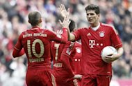 Bayern Munich stars Arjen Robben (left), Mario Gomez (right) and Jerome Boateng are all nursing knocks ahead of their Champions League clash with FC Basel on March 13, coach Jupp Heynckes has revealed