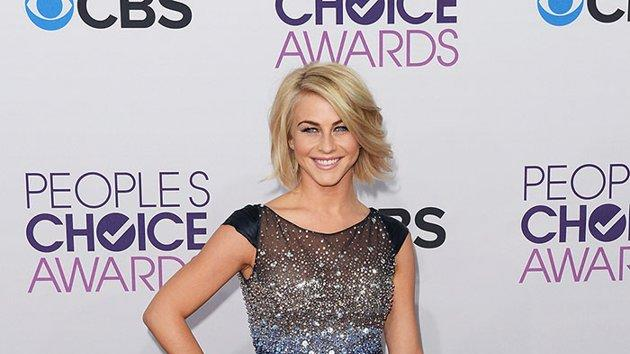 """BEST: Julianne Hough.   The former """"Dancing With the Stars"""" pro knows how to rock sequins. She sparkles in a Tony Ward Couture dress and silver Guiseppe Zanotti shoes. Alas, boyfriend Ryan Seacrest couldn't escort her down the red carpet due to an """"American Idol"""" commitment."""