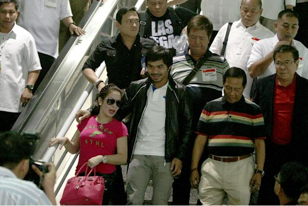 Pacquiao's arrival