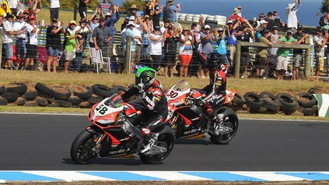 Superbike - Laverty wins in another 1-2 with Guintoli at Phillip Island
