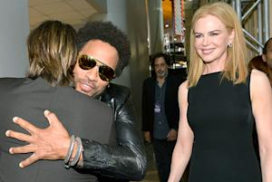 Nicole Kidman, Keith Urban Hug, Hang Out With Her Ex Lenny Kravitz at CMTs