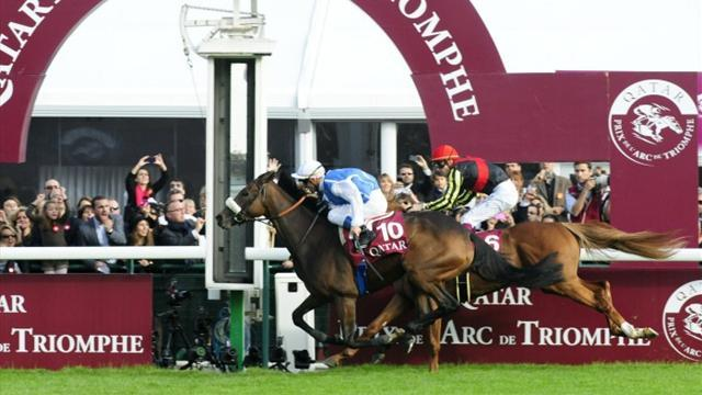 Peslier and Solemia win thrilling Arc