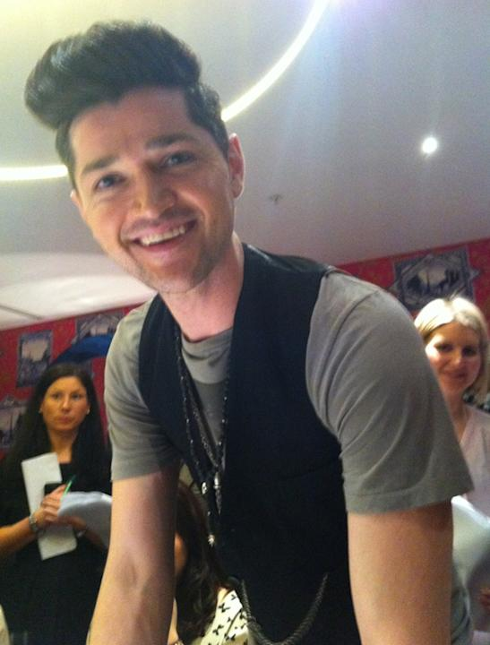 Celebrity photos: Danny O'Donoghue's smile made us melt, it took us a few seconds to come round after taking this snap.