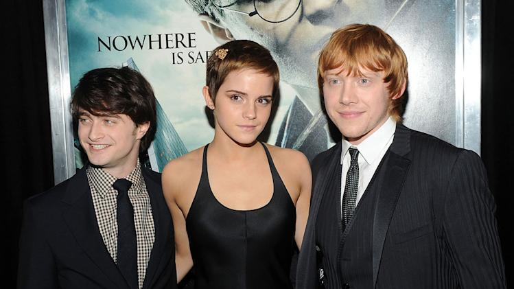 Harry Potter and the Deathly Hallows Pt 1 NYC premiere 2010 Daniel Radcliffe Emma Watson Rupert Grint