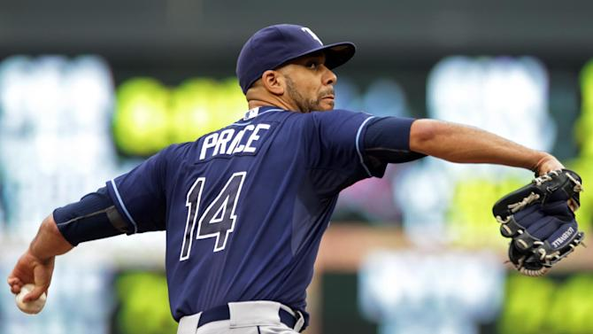 Price throws 8 shutout innings; Rays top Twins 5-1