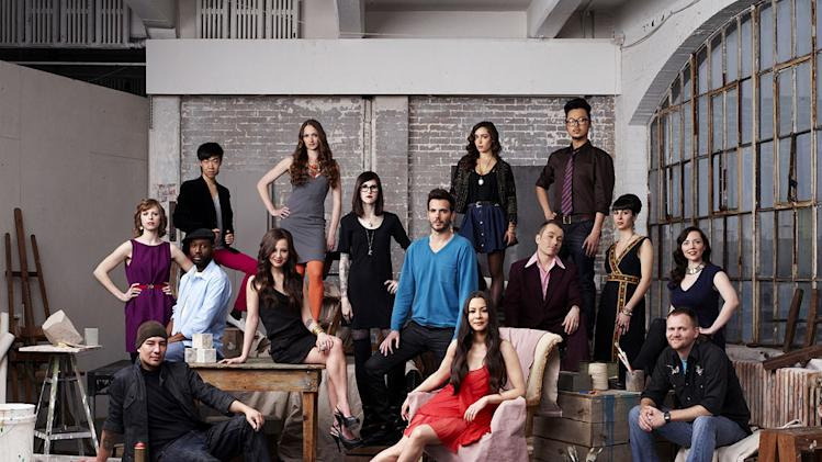 "The season 2 cast of ""Work of Art: The Next Great Artist."""