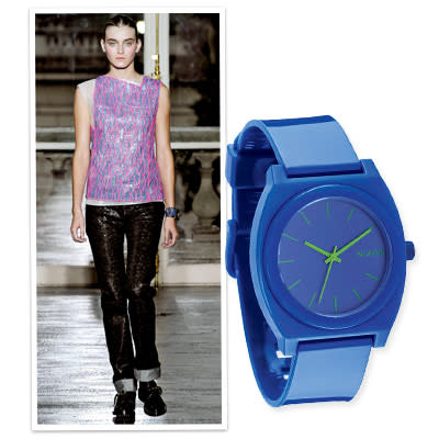 5. Throw on a Vibrant Watch