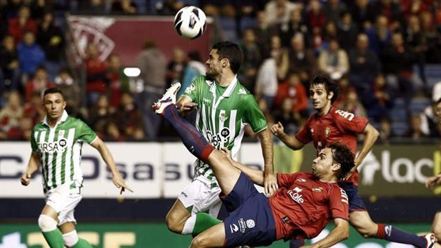 Liga - Osasuna and Betis share spoils