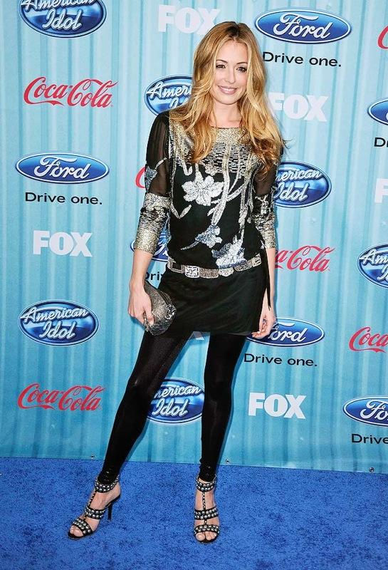 TV personality Cat Deeley arrives at the American Idol Top 13 Party held at AREA on March 5, 2009 in Los Angeles, California. Cat Deeley