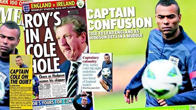 Football - Paper Round: England captaincy tainted by Cole