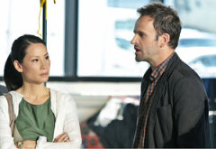 Lucy Liu and Jonny Lee Miller | Photo Credits: Giovanni Ruffino/CBS