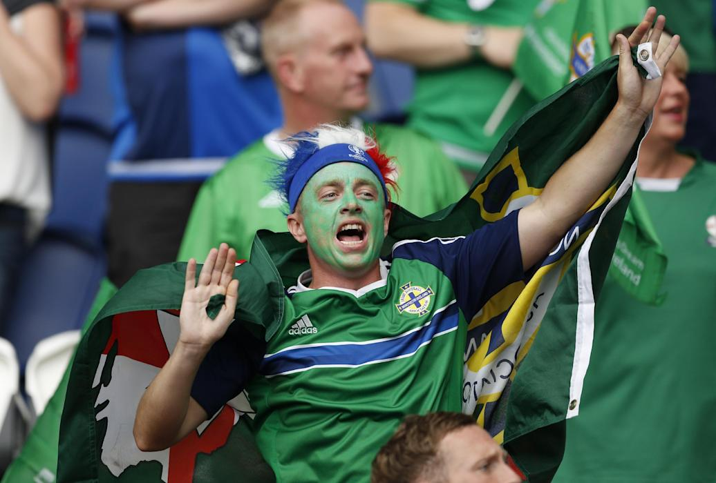 Northern Ireland fan before the match
