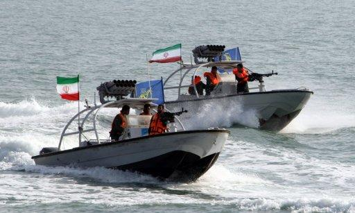 "File picture shows Iranian Revolutionary Guards' naval vessels at the port of Bandar Abbas. Iran has ""captured"" an unmanned US drone over Gulf waters after it entered Iranian airspace, the Revolutionary Guards said in a statement on Tuesday."