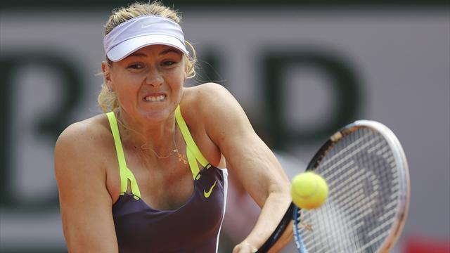French Open - Sharapova through after scare, Azarenka beats Cornet