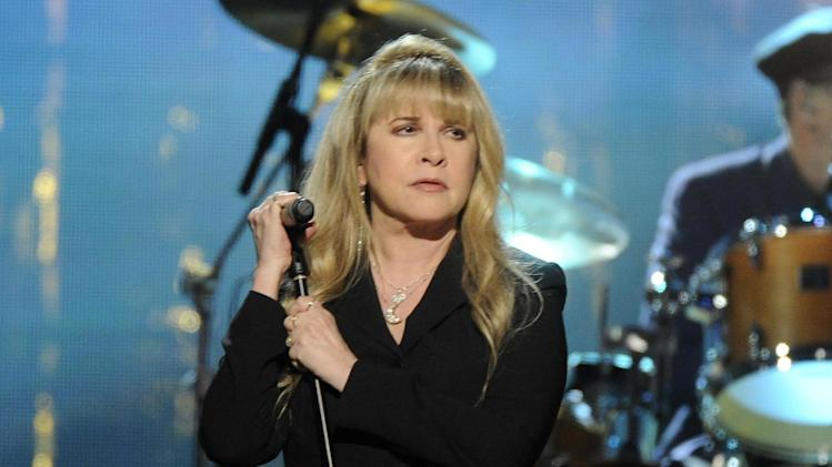 Stevie Nicks performs at the 2014 Rock and Roll Hall of Fame Induction Ceremony on Thursday, April, 10, 2014 in New York. (Photo by Charles Sykes/Invision/AP)