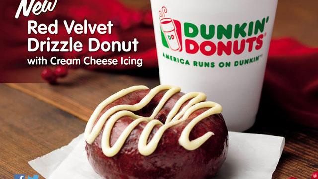 Dunkin' Donuts Updates Holiday Menu With Red Velvet Donut