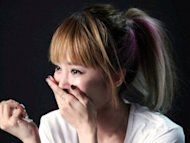 Jolin Tsai in tears during filming