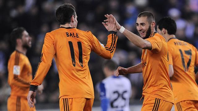 Copa del Rey - Benzema gives Real slender lead in Copa quarters