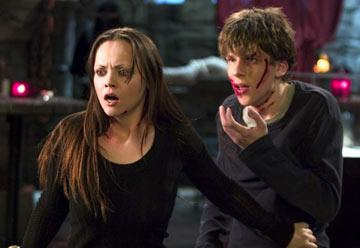 Christina Ricci and Jesse Eisenberg in Dimension Films' Cursed