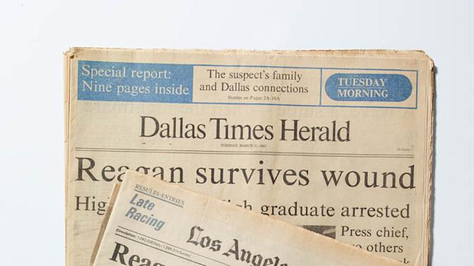 """""""The '80s: The Decade That Made Us"""" - Reagan Shooting Headlines"""