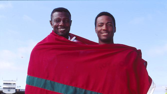 Richie Richardson and Brian Lara