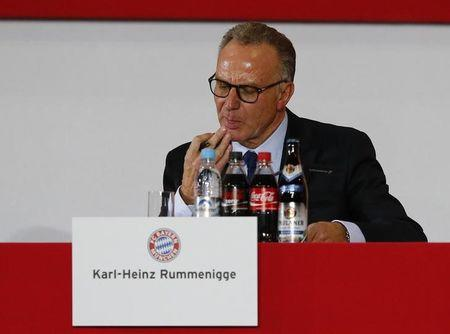 File photo of Bayern Munich's CEO Rummenigge attending the annual general meeting of the German Bundesliga first division soccer club in Munich