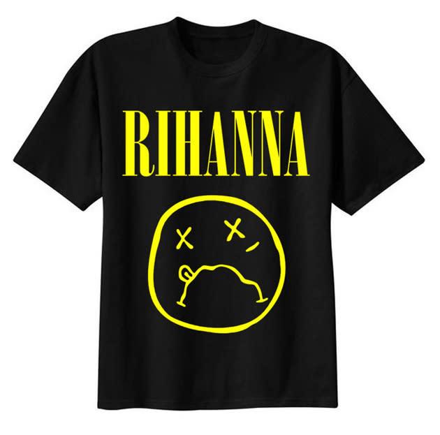 rihanna nirvana shirt