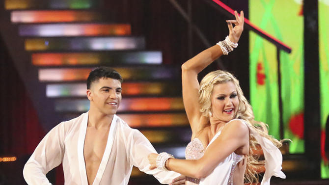 Victor Oritz and Lindsay Arnold (4/22/13)