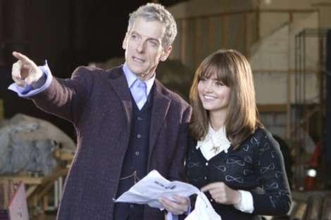 Peter Capaldi and Jenna Louise Coleman on the new Doctor's first day