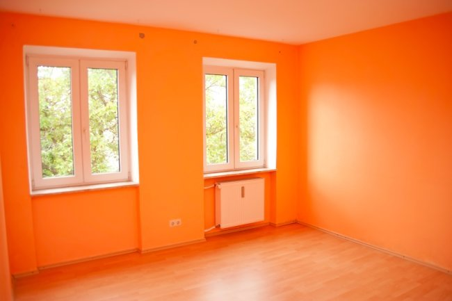 Think outside the white paint box what different colors - Painting a room two colors ...