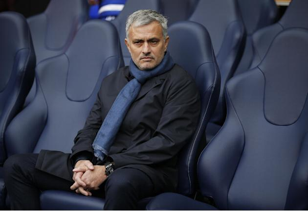 Chelsea manager Jose Mourinho before the match