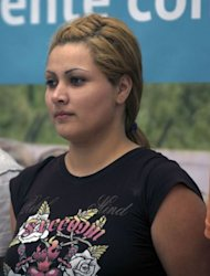 "Carmen del Consuelo Saenz Marquez, aka ""Claudia"", alleged financial operator of the Zetas drug cartel is pictured in 2011 in Mexico City. The high mortality rate in Mexico's drug war has seen women progress quickly in the shadowy underworld of the cartels and they are increasingly taking on key management roles, a new book says"