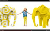 "Screenshot from the video ""GapKids 2013 Collection by Diane von Furstenberg"""