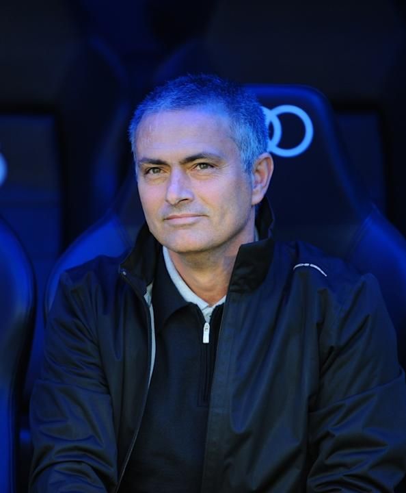 Real Madrid's Portuguese Coach Jose Mourinho Looking On AFP/Getty Images