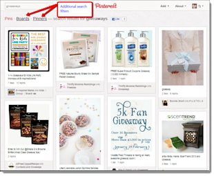 4 Ways to Use Pinterest to Rank High in Search Engines image Searching for keywords on Pinterest