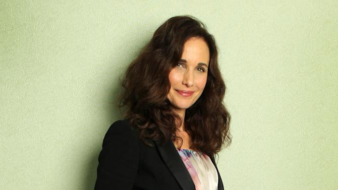 """FILE - This May 27, 2012 file photo shows actress Andie MacDowell during the 65th international film festival in Cannes, southern France. MacDowell stars in """"Debbie Macomber's Cedar Cove,"""" premiering Saturday, July 20, 2013 at 8 p.m. EST on the Hallmark Channel. (AP Photo/Joel Ryan, File)"""