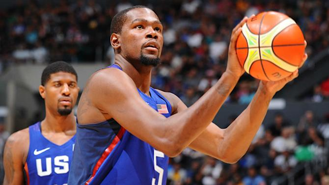 Kevin Durant, Team USA face China at his new NBA home
