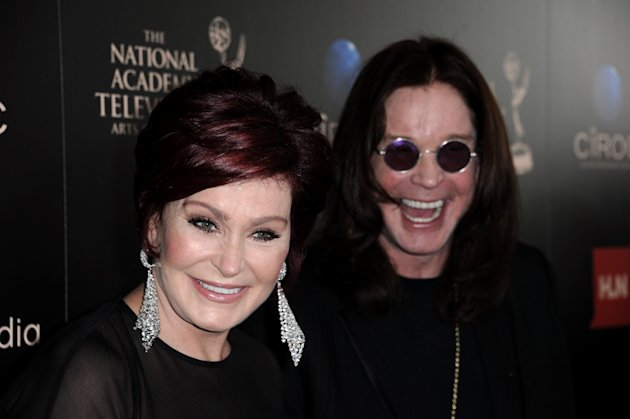 Sharon Osbourne, left, and Ozzy Osbourne arrive at the 40th Annual Daytime Emmy Awards on Sunday, June 16, 2013, in Beverly Hills, Calif. (Photo by Richard Shotwell/Invision/AP)