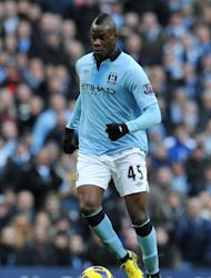 Manchester City striker Mario Balotelli in action against Manchester United on December 9, 2012. Balotelli's impact has been limited this season with the Italian scoring just one Premier League goal and his final weeks of the club overshadowed by a training pitch confrontation with his manager
