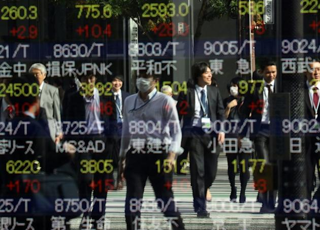 Tokyo stocks opened 0.13 percent lower in tepid trade as investors await key US jobs figures and a European Central Bank meeting for trading cues later this week