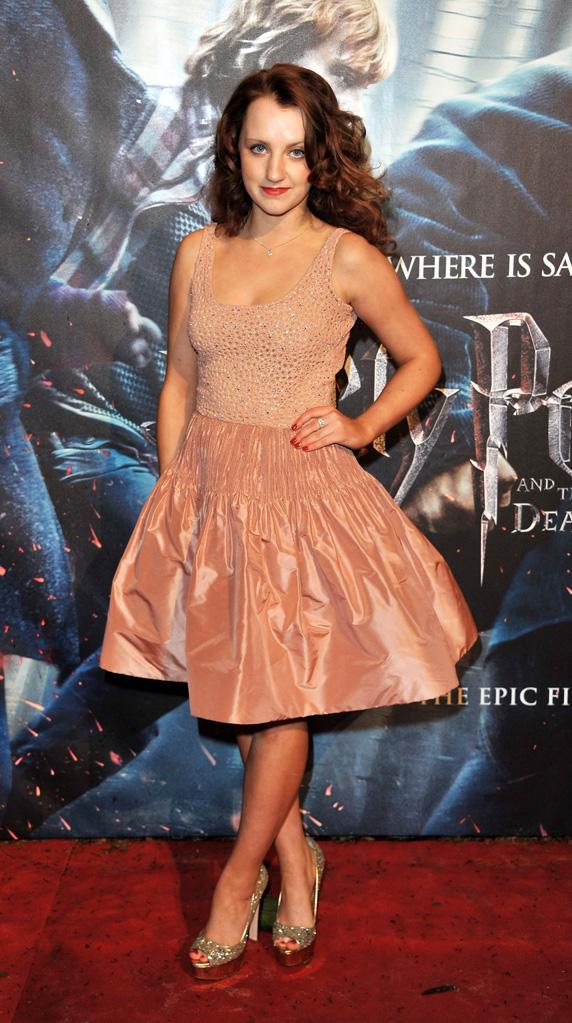 Harry Potter and the Deathly Hallows pt 1 UK premiere 2010 Evanna Lynch